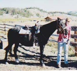 Niki & Misty getting ready to leave the Darwin Ranch for a ride